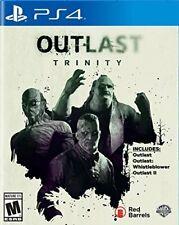 Outlast Trinity 1 + Whistleblower + 2 [Sony PlayStation PS4 Survival Horror] NEW