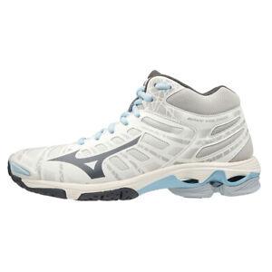 Mizuno WAVE VOLTAGE MID Indoor Shoes Volleyball Badminton Snow White V1GC196518
