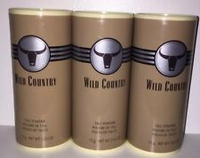 Avon Wild Country Talc Powder 2.65 0z Lot Of 3 Discontinued