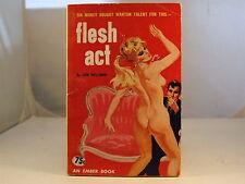Flesh Act by Don Wellman Sleaze GGA Vintage Paperback