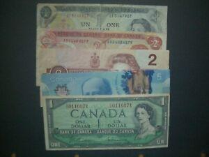 No.5 Canada  $1, $2 & $5 'F-GVF' Banknotes
