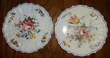 Smithsonian Italy Campagnolo Arteluce Bassano Floral 2 Plates PTZ Hanging Holes