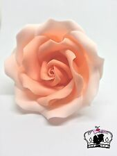 "Peach ombre 3""sugar paste flower, handmade, cake topper,birthday, wedding edible"