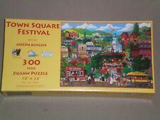 SUNSOUT 300 Large Piece Jigsaw Puzzle - TOWN SQUARE FESTIVAL - COMPLETE