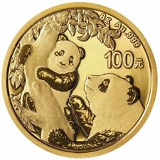 China - 100 Yuan 2021 - Panda - Anlagemünze - 8 gr Gold ST