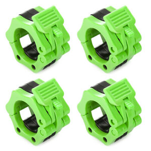 4Pcs Fit 2 in Olympic Barbell Clamps ABS Locking Collar Clips for Training Lifts