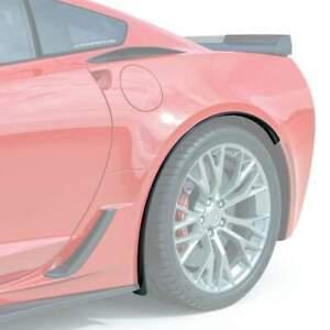 Carbon Flash Rear Wheel Quarter Extensions For C7 Corvette Grand Sport Z06 ZR1