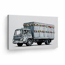 Banksy Art Meat Truck Painting Artwork Wall Art Wall Art