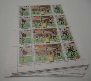 1970 Jemen; 200 Serien Fußball, postfrisch/MNH, MiNr. 1150/52, ME 1000,-