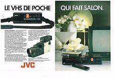 Publicité Advertising 1985 (2 pages) Camera et camescope JVC