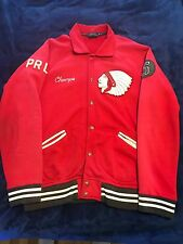 Polo Ralph Lauren Men's Indian Head Red Varsity Jacket X-Large