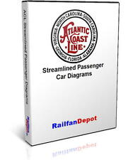 Atlantic Coast Line Streamlined Passenger Car Diagrams - PDF on CD  RailfanDepot
