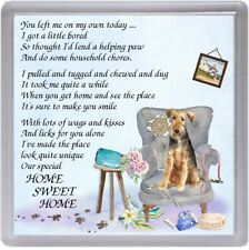 "Welsh Terrier Dog Coaster ""HOME SWEET HOME Poem ..."" Novelty Gift by Starprint"