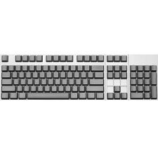Max Keyboard ANSI 104-key Cherry MX Replacement Keycap Set 6.25x (Grey / Blank)