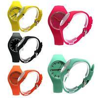 Fashion Women Girl Candy Silicone Band Quartz Watch Jelly Sport Wristwatch Gift