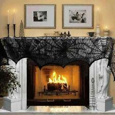 Black Lace Spider Cloth Design Halloween Fancy Dress Party Horror Decoration W8H