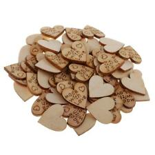 100X Chic Wood Heart Shapes Wedding Table Scatter Party Decoration Craft DIY