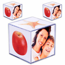 3 X Photo Cube Acrylic for 6 9 9 Cm Picture Frame Holder