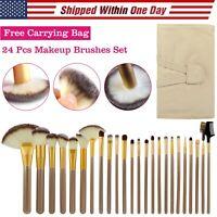24,30pcs Makeup BRUSHES Kit Set Powder Foundation Eyeshadow Eyeliner Lip Brush