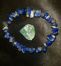 CHARGED LAPIS LAZULI Chip Stretchy Bracelet handmade, + Aventurine Stone, REIKI!