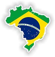 Sticker Silueta Brasil Mapa Bandera Para Parachoques Guitarra Patineta Locker Tablet