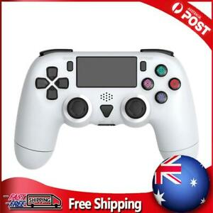 Wireless Controller for PS4 Pro Slim Dual Motor Vibration 6-Axis Gyro White
