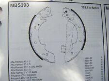 Alfa Romeo 33 1.2/1.3/1.4/1.5/1.7 rear brake shoes (mbs393) (83 - 94)