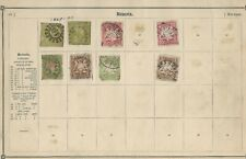 GERMANY 4 Pages of Early Deutsches Reich and Bavaria Stamps