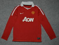Manchester United Home Long Sleeved Football Shirt Size 10-12 YRS 140-152CM