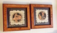 Set Egyptian Art Print Papyrus Paper Egypt Oedipus & Spinx Roman Convivia Greek