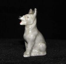 GERMAN SHEPHERD Tiny Vintage Gray DOG Figure Figurine