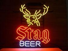 """New Stag Beer Deer Neon Sign 17""""x14"""""""
