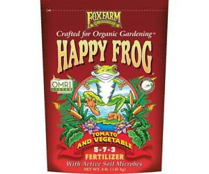 FoxFarm Happy Frog TOMATO & VEGETABLE 4 lbs Natural Organic Fertilizer Fox Farm