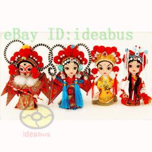 "Chinese Peking Opera Mini creative Q-Doll Version Opera Figurine Doll (6"" tall)"