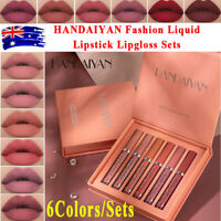 6PCS/Set Long Lasting Lip Gloss Beauty Glazed Matte Liquid Make up Lipstick Lip✅