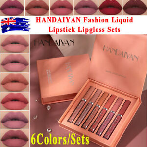 6PCS/Set Long Lasting Lip Gloss Beauty Glazed Matte Liquid Make up Lipstick Lip✅
