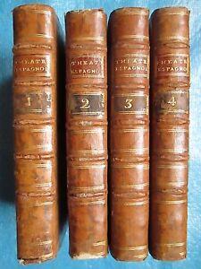 LINGUET : THEATRE ESPAGNOL, 1770. 4 volumes in-12. Edition originale.