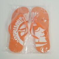 Shock Top Beer Orange Logo Flip Flops Sandals Shoes Size L New
