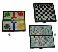 Wholesale Mini Travel Games box of 24 - Chess Ludo Snakes & Ladders - 8 of each