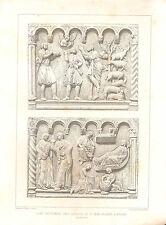 1851 d'architectes français imprimer baptême police Eglise St John Verona sculpture