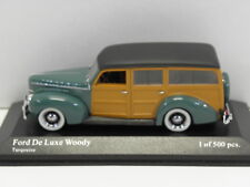 MINICHAMPS 400082110 sammelmodell Ford De Luxe Woody Turqouise 1940 M 1:43