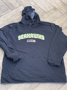Reebok NFL SEATTLE SEAHAWKS Lined Warm Hoodie Sweatshirt Men's XL Free Shipping!