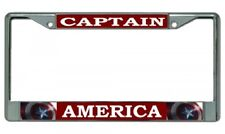 Captain America Metal Chrome License Plate Frame