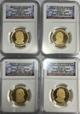 2012 S NGC PF69 PRESIDENTIAL 4 COIN SET ARTHUR HARRISON CLEVELAND 1ST & 2ND TERM