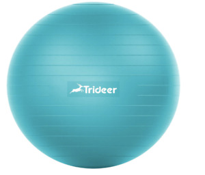 Trideer Exercise Ball (Blue),Thick Gym, Yoga, Pilates, Fitness, Pregnancy, Birth