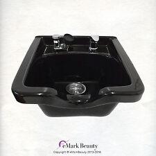 Black Square CERAMIC Wall Mounted Beauty Salon Shampoo Bowl TLC-B41W
