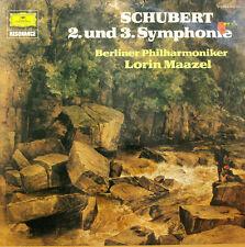 """SCHUBERT 2. UND 3. SYMPHONIE LORIN MAAZEL BERLINER PHILHARMONIKER 12"""" LP (c733)"""