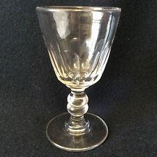 Baccarat hauteur 11,2 cm verre à vin en cristal fin XIX ème cotes plates