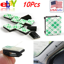 10Pcs Car Wire Tie Untie Rectangle Cable Holder Mount Clip Clamp Self Adhesive
