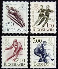 JUGOSLAVIA 1968: OLIMPIADI GRENOBLE SERIE COMPLETA NUOVI COME DA FOTO